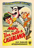 "Movie Posters:Comedy, A Night in Casablanca (United Artists, 1946). Italian 2 - Foglio(39"" X 55"").. ..."