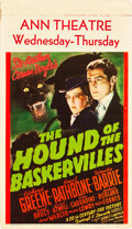"Movie Posters:Mystery, The Hound of the Baskervilles (20th Century Fox, 1939). MidgetWindow Card (8"" X 14"").. ..."