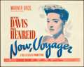 "Movie Posters:Romance, Now, Voyager (Warner Brothers, 1942). Title Lobby Card (11"" X 14"").. ..."