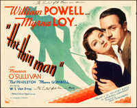 "The Thin Man (MGM, 1934). Title Lobby Card (11"" X 14"")"