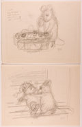 Books:Children's Books, Garth Williams. INITIALED. Approximately Forty Rough PencilDrawings for Illustrations in The Rescuers by ...