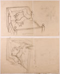 Books:Children's Books, Garth Williams. SIGNED. Three Preliminary Drawings forIllustrations in Bedtime for Frances by Russell Hob...