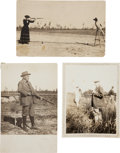 Miscellaneous:Postcards, Annie Oakley and Frank Butler: Three Vintage Photos. ... (Total: 3Items)