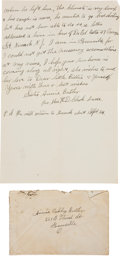 Miscellaneous:Ephemera, Annie Oakley: A Letter Written for Her by Her Nurse, Shortly Before Her Death.... (Total: 3 Items)