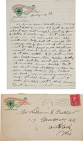 Autographs:Celebrities, Annie Oakley: Autograph Letter Signed, to her Brother-in-lawWilliam Butler. ...