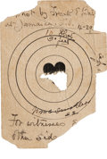 Advertising:Paper Items, Frank Butler: A Target with the Center Shot Out by Him. ...