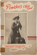 Advertising:Paper Items, Annie Oakley: A Promotional Booklet for Powders. ...