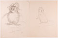 Books:Children's Books, Garth Williams. INITIALED. Three Preliminary Drawings forIllustrations in The Rescuers by Margery Sharp, ...