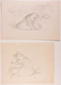 Books:Children's Books, Garth Williams. INITIALED. Six Preliminary Drawings for anIllustration in The Rescuers by Margery Sharp, ...