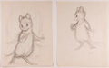 Books:Children's Books, Garth Williams. INITIALED. Five Preliminary Drawings forIllustrations in The Rescuers by Margery Sharp, 1...