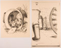 Books:Children's Books, Garth Williams. SIGNED/INITIALED. Four Printed Proofs ofIllustrations in The Rescuers by Margery Sharp, 1...