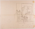 Books:Children's Books, Garth Williams. SIGNED. Three Preliminary Drawings for anIllustration in Bedtime for Frances by Russell H...