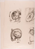 Books:Children's Books, Garth Williams. INITIALED. Large Sheet of Printed Proofs ofIllustrations in The Rescuers by Margery Sharp...