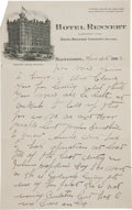 Autographs:Celebrities, Frank Butler: A Two-sided Handwritten Letter with Annie OakleyContent. ...