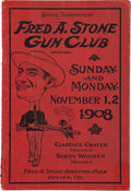 Miscellaneous:Brochures, Frank Butler: 1908 Shooting Tournament Program with Notation byHim. ...