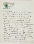 Autographs:Celebrities, Annie Oakley: A Three-page Handwritten Letter to Brother-in-lawWilliam Butler. ...