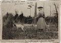 Photography:Cabinet Photos, Annie Oakley: Original Photo Shooting Quail in 1908, with Inscription in Husband Frank's Hand....