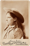 Photography:Cabinet Photos, Annie Oakley: An Early Cabinet Photo with Facsimile Signature. ...
