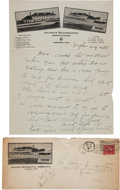 Autographs:Celebrities, Frank Butler: Longhand Letter to Brother William, with Original Envelope Bearing His Signature in Full....