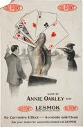 Advertising:Paper Items, Annie Oakley: Large DuPont Advertising Card. ...
