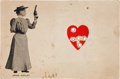 Miscellaneous, Annie Oakley: A Large Promotional Card, Shot Through the Heart FiveTimes. ...
