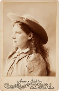 Photography:Cabinet Photos, Annie Oakley: Beautiful Condition on this Attractive Early Cabinet Photo. ...