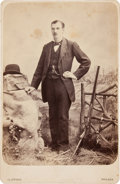 Autographs:Celebrities, Frank Butler: A Rare Youthful Cabinet Photo Image, Inscribed andDated 1878 by Butler on Verso....