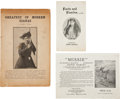 Miscellaneous:Booklets, Annie Oakley: Three Interesting Paper Items. ... (Total: 3 Items)