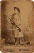 Photography:Cabinet Photos, Annie Oakley: A British Cabinet Photo. ...