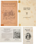Miscellaneous:Booklets, Annie Oakley: Four Interesting Paper Items. ... (Total: 4 Items)