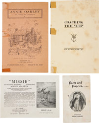 Annie Oakley: Four Interesting Paper Items