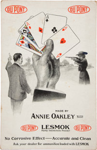Annie Oakley: A Large DuPont Advertising Card