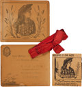Miscellaneous:Ephemera, Annie Oakley and Frank Butler: A Wonderful 1891 Christmas Card fromthe Famous Pair. ...