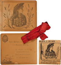 Annie Oakley and Frank Butler: A Wonderful 1891 Christmas Card from the Famous Pair