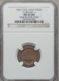 Civil War Patriotics, 1863 Union For Ever MS63 Brown NGC. Fuld-240/341a....