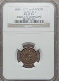 Civil War Patriotics, (1864) Lincoln - Johnson AU58 NGC. Fuld-132A/149a....