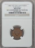 Civil War Patriotics, (1863) Our Union / No Compromise with Traitors MS63 Brown NGC.Fuld-201/432a....