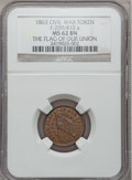 Civil War Patriotics, 1863 Flag Of Our Union MS62 Brown NGC. Fuld-209/410a....