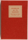 Books:Literature 1900-up, [William Everson, Charles Bukowski, et al.]. SIGNED BY ALL AUTHORS.Sparrow 61-72. Santa Barbara: Black Sparrow ...