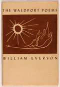 Books:Literature 1900-up, William Everson. The Waldport Poems. Illustrated by ClaytonJames. Waldport, Oregon: The Untide Press, 1944. Fir...