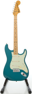 Musical Instruments:Electric Guitars, 1974 Fender Stratocaster Lake Placid Blue Solid Body Electric Guitar, #528402....