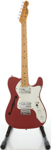 Musical Instruments:Electric Guitars, 1972 Fender Telecaster Thinline Refinished Solid Body Electric Guitar, #369168....