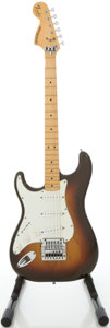 Musical Instruments:Electric Guitars, 1978 Left-Handed Fender Stratocaster Sunburst Solid Body ElectricGuitar, #S870476....
