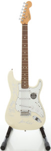 Musical Instruments:Electric Guitars, 1999 Fender Stratocaster USA White Solid Body Electric Guitar,#N8355366....
