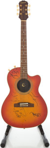 Musical Instruments:Acoustic Guitars, Epiphone Chet Atkins Cherry Sunburst Acoustic Electric Guitar,#L7030765....
