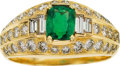 Estate Jewelry:Rings, Gentleman's Emerald, Diamond, Gold Ring, Cartier. ...