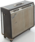 Musical Instruments:Amplifiers, PA, & Effects, 1970's Fender Twin Reverb Silverface Guitar Amplifier, #A970912....