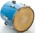 "Musical Instruments:Drums & Percussion, Mid 1960's Ludwig Keystone Blue Sparkle 14"" Tom Drum , #251674...."