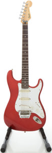 Musical Instruments:Electric Guitars, 1985 Fender Stratocaster Candy Apple Red Solid Body ElectricGuitar, #E550229....