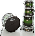 Musical Instruments:Drums & Percussion, Pearl Session Custom Greenburst Drum Set, #001309....